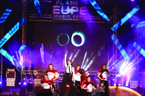 Rocking the stage @ Planet EUPE