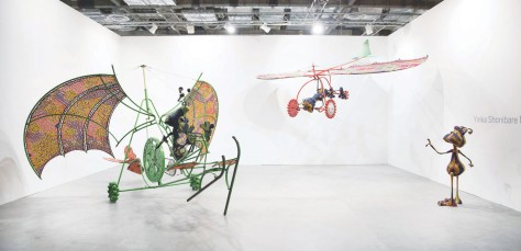 Art Stage Singapore 2016_Yinka Shonibare MBE_Alien Man on Flying Machine, Alien Woman on Flying Machine, Alien Child _presented by Pearl Lam Galleries