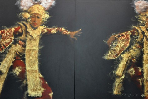 Auction-Ahmad Zakii Anwar, Legong 4, 1997, Acrylic on canvas, 120 x 180cm, 2 panels