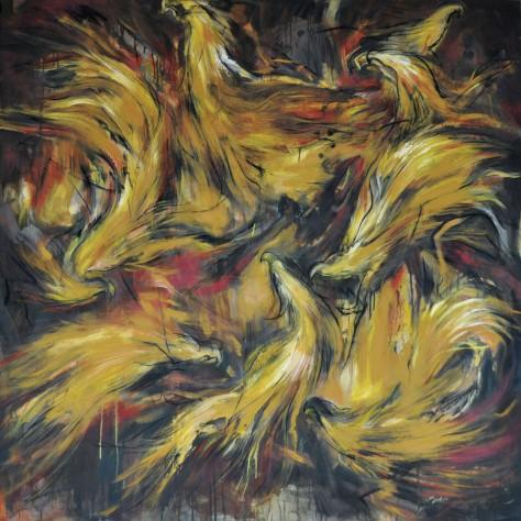 Auction-Yusof Ghani %22Biring LXX%22 (2007) Oil on Canvas 183cm x 183cm1