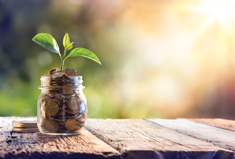 Economy, Investment And Saving Concept