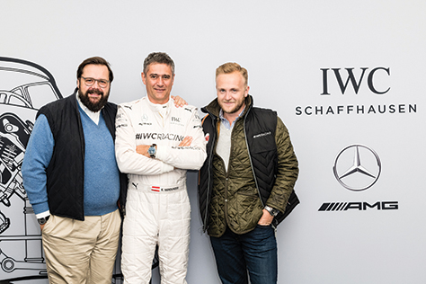 Philip Rathgen (CEO Classic Driver), Karl Wendlinger and Ted Gushue
